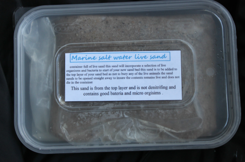 750 grams of live sand includes micro fauna,copepods life & good marine bacteria