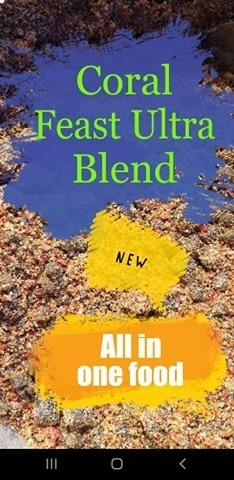 NEW All in one coral feast ultra blend coral food pouch